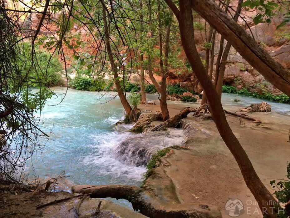 Havasupai falls water campground