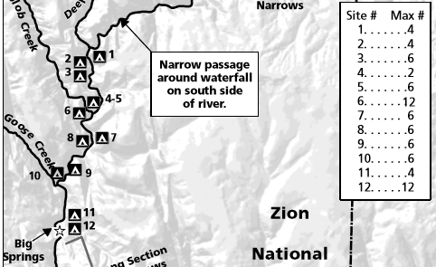 zion narrows campsites